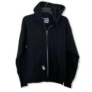 Hanes Ultimate Cotton Men's Black Zip Up Jacket Sm
